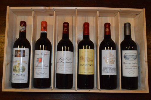 luxe Franse wijn cadeau 6 flessen